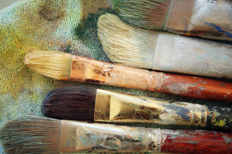 Splattered Brushes